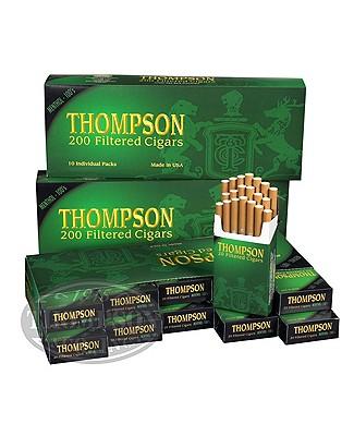 Thompson Filtered Cigars Hard Pack 3-Fer Natural Filtered Menthol