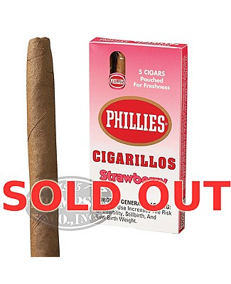 Phillies Mini Cigarillo Natural Strawberry