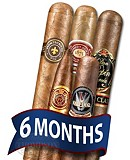 Cigar Tour Sampler Of The Month 5 Cigars For 6 Months