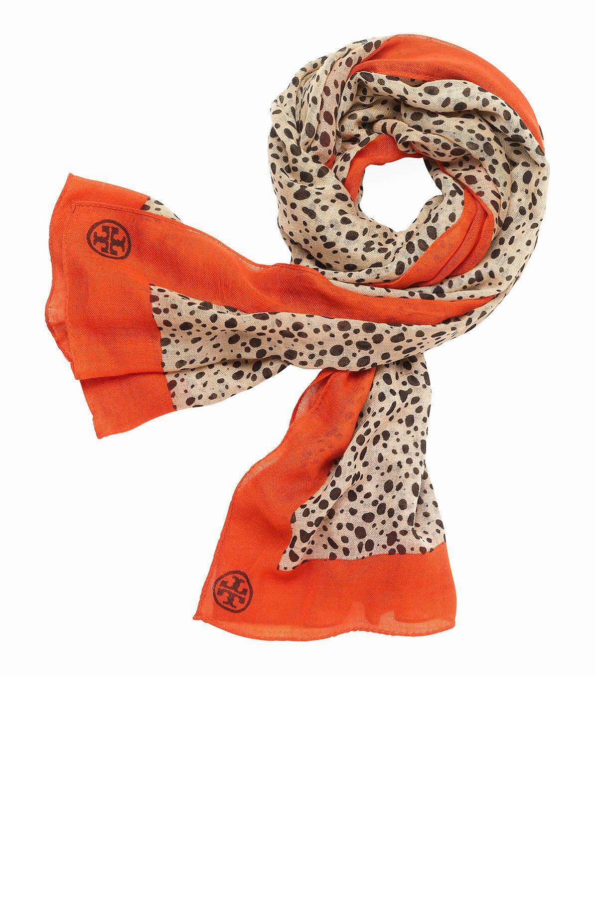 Tory Burch Cheetah Animal Print Scarf