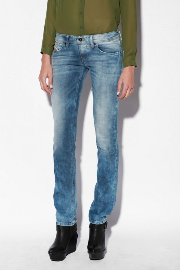 94ffed46 Diesel Lowky Low Rise Straight Jean - Rinsed Denim | Urban Outfitters