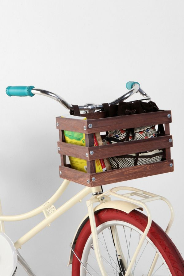 Classic Crate Wood Bike Basket Urban Outfitters
