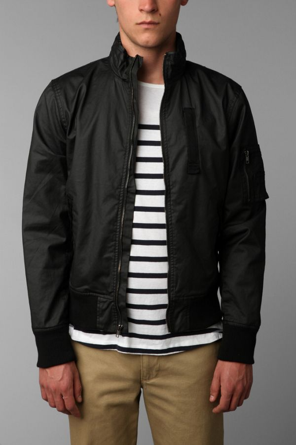 4d20df920 Charles & 1/2 Waxed Racer Jacket | Urban Outfitters