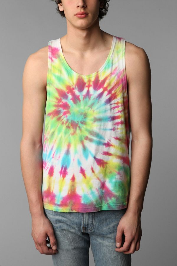 32c60d59fc5d0 Urban Renewal Vintage Mens Tie-Dyed Tank Top