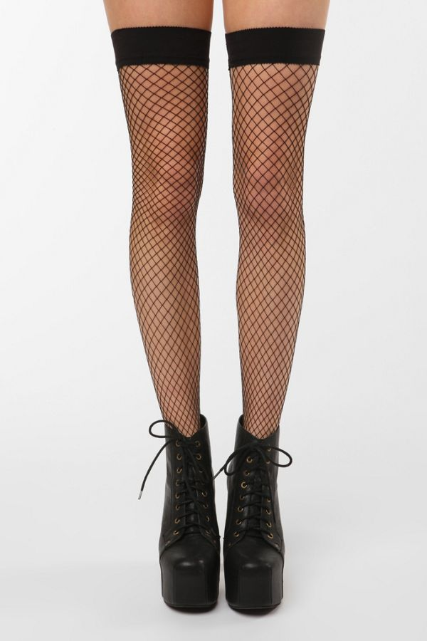 5644c98b2 Philippe Matignon Fishnet Thigh High Sock