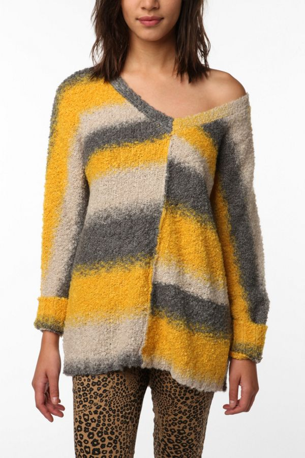 c25c91af3 Sparkle & Fade Bright Stripe Boucle Sweater | Urban Outfitters