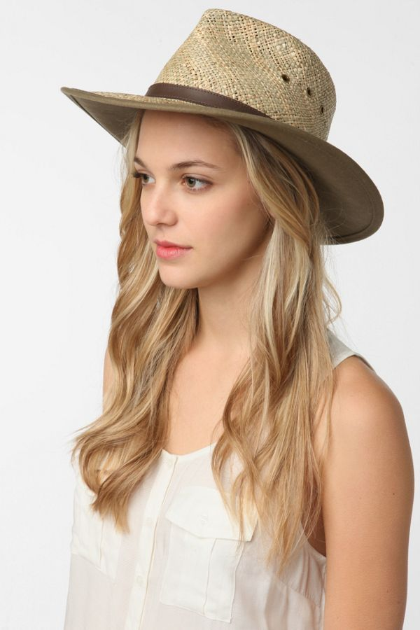 f0428b6726c6e Pendleton Belted Straw Outback Hat