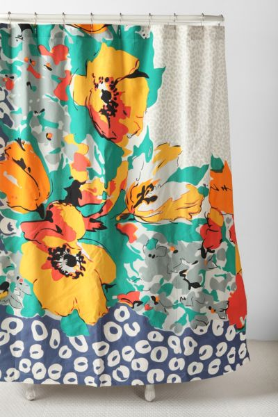 Corner Floral Shower Curtain Urban Outfitters Canada