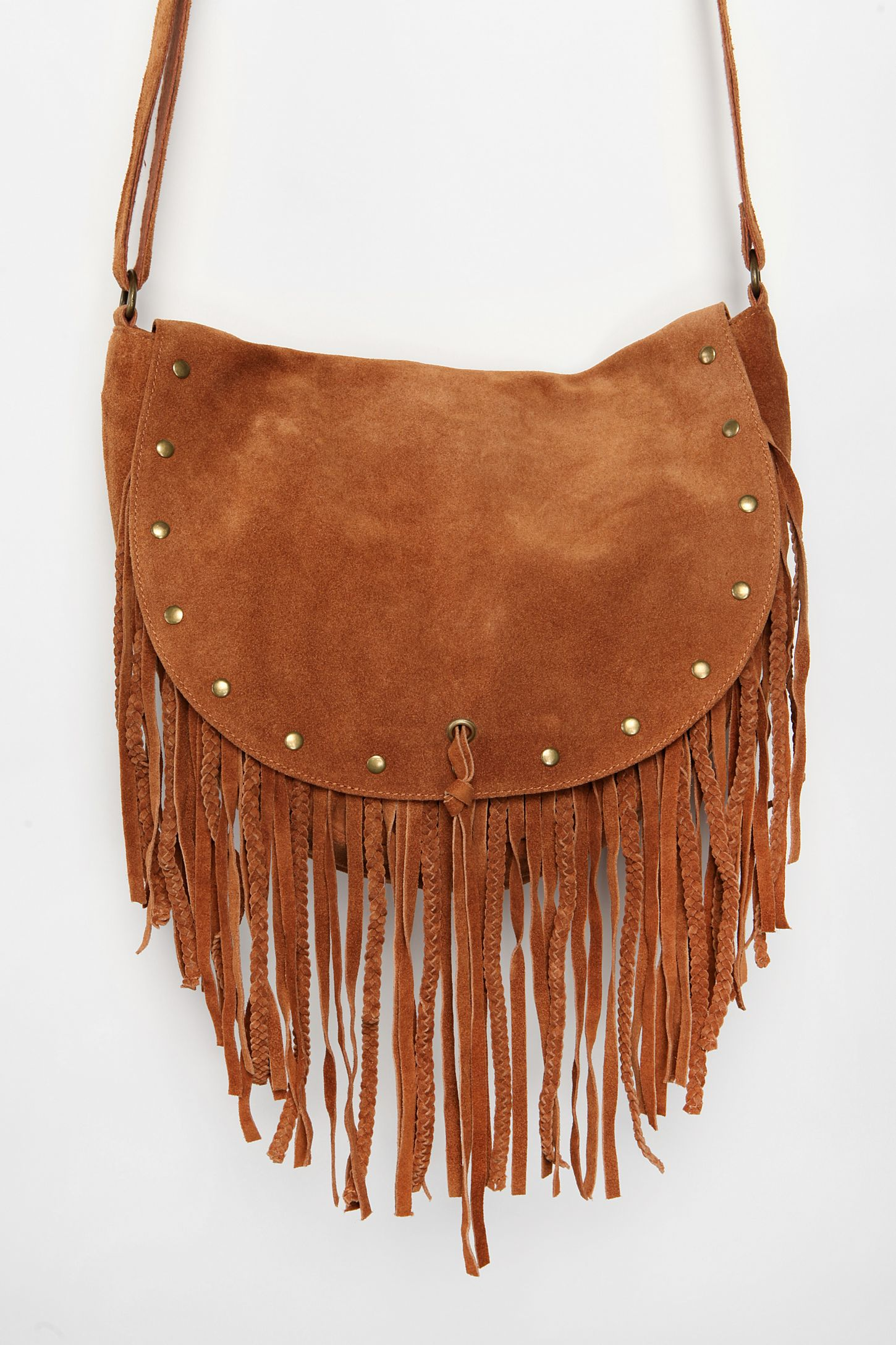 df9b4f668e Ecote Suede Stud Fringe Hobo Bag. Tap image to zoom. Hover to zoom. Double  Tap to Zoom