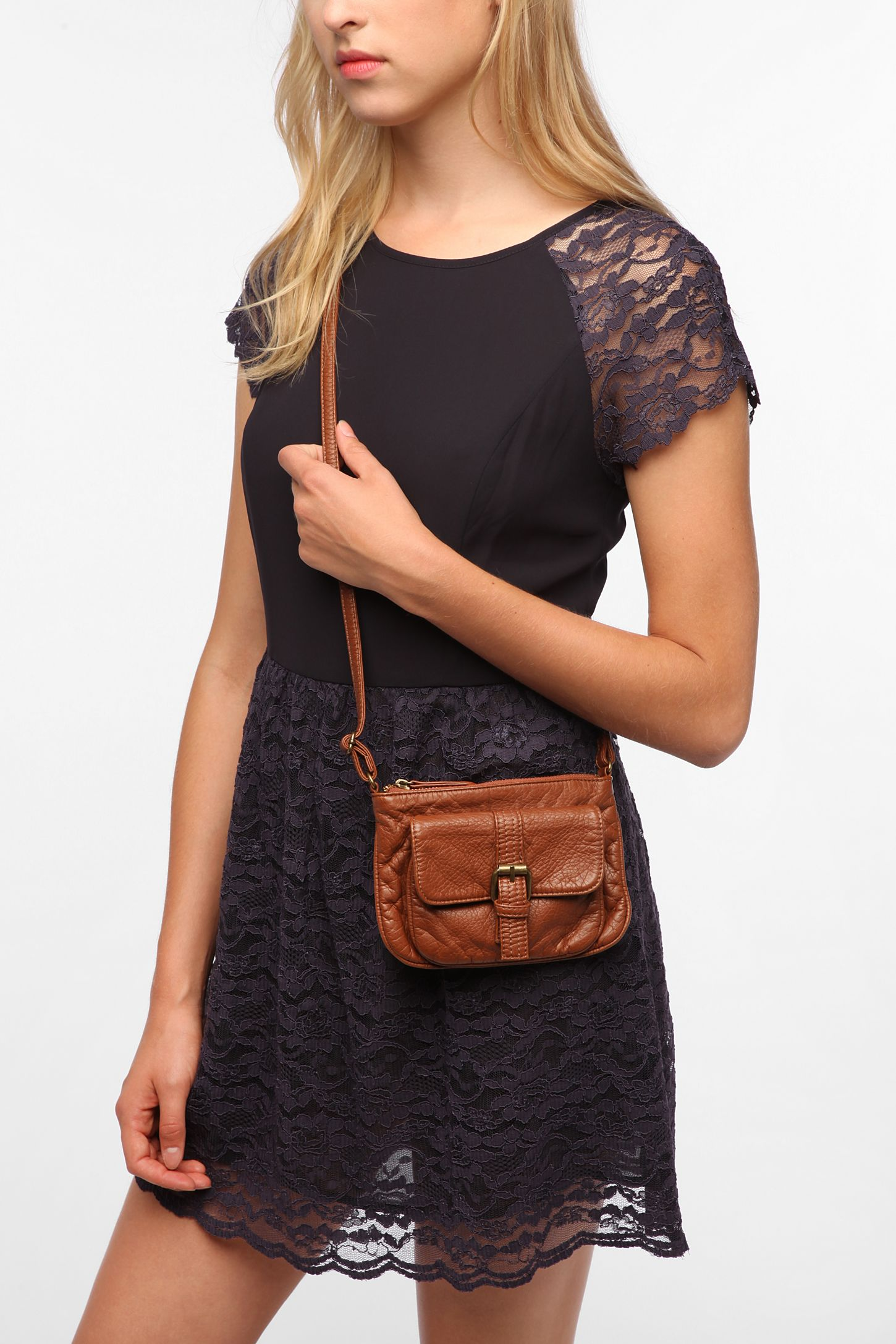 d177da734caa Deux Lux Buckle-Front Mini Crossbody Bag   Urban Outfitters