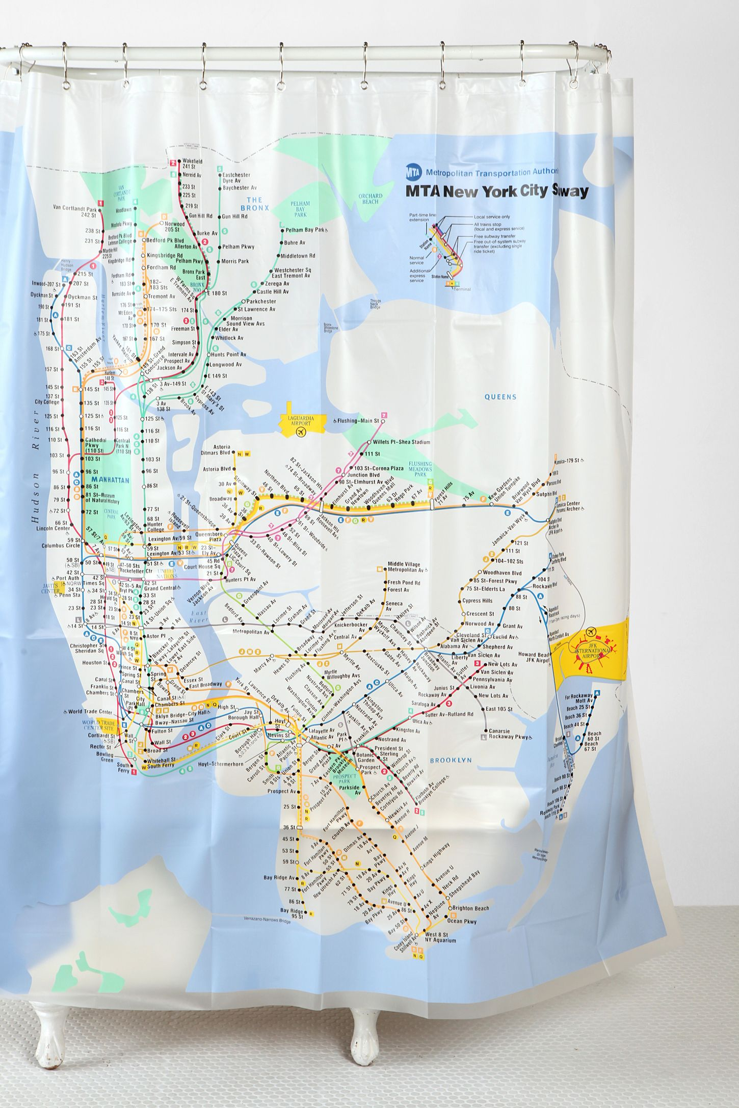 new york city subway shower curtain | urban outfitters