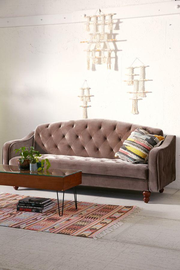Super Ava Velvet Tufted Sleeper Sofa Bralicious Painted Fabric Chair Ideas Braliciousco