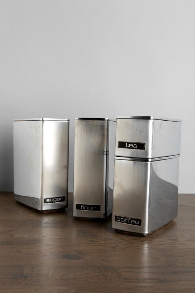 One Of A Kind Vintage Kitchen Canister Set Urban Outfitters Canada