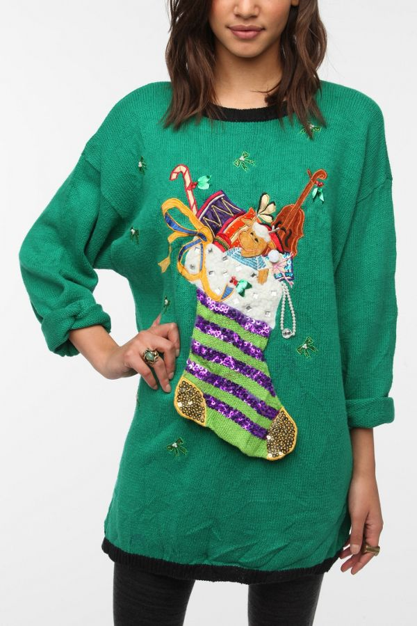 Urban Outfitters Ugly Christmas Sweater.Urban Renewal Ugly Christmas Sweater Urban Outfitters