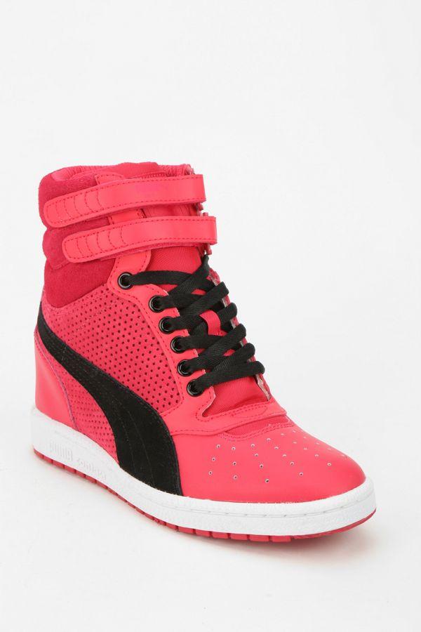 e1a13ccb0ee Puma Sky Wedge Leather Hidden Wedge High-Top Sneaker