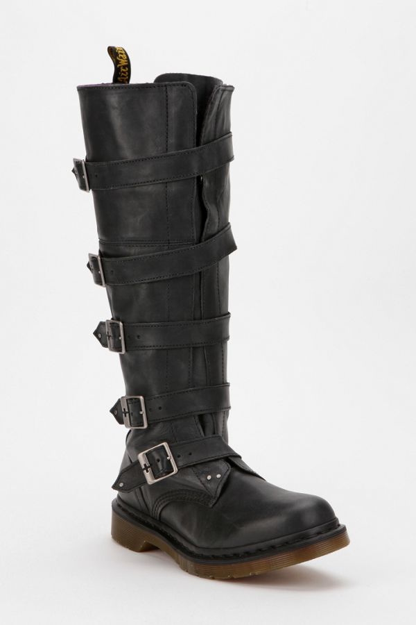 half price promo code best sell Dr. Martens Phina Buckle-Strap Leather Combat Boot | Urban ...