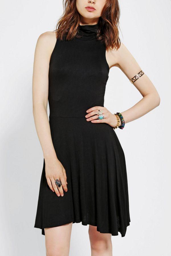 0899d0d1d845 Sparkle   Fade Knit Turtleneck Skater Dress