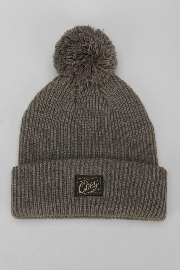 e0ecfb800 OBEY Old-Time Pompom Beanie | Urban Outfitters