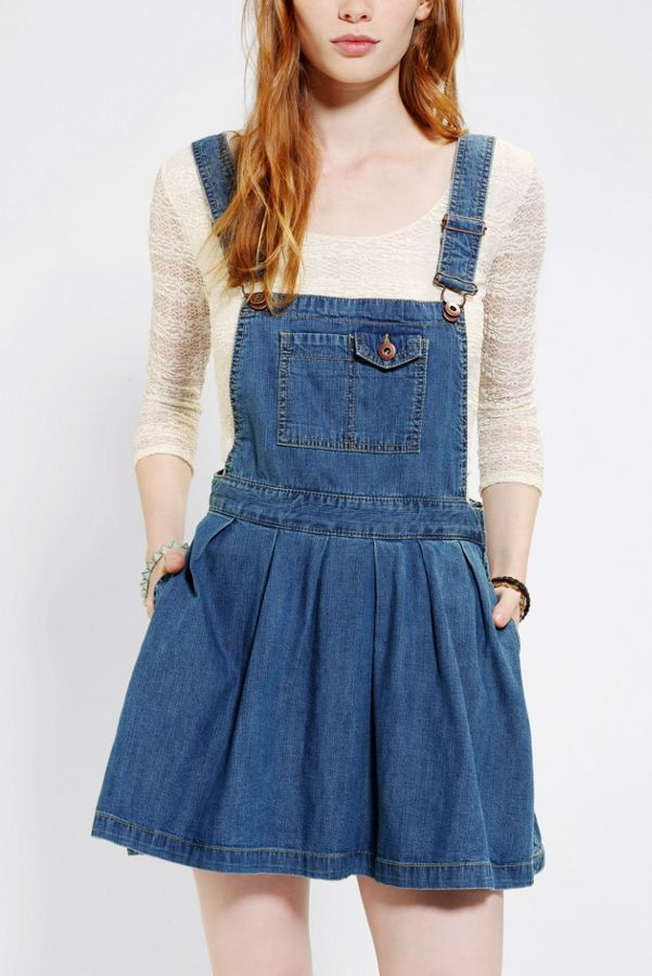 b89110a50e Coincidence & Chance Pleated Denim Overall Skirt | Urban Outfitters