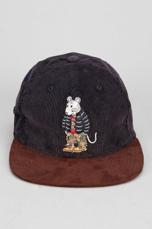 e86d53fb735 Stussy Rat Corduroy Snapback Hat