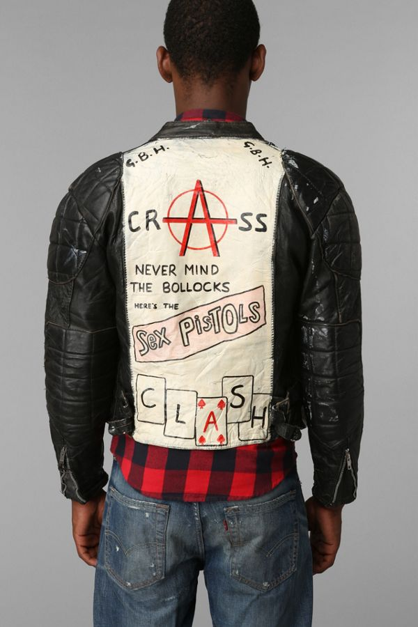 02bf5cd32 Vintage Men's Punk Leather Jacket | Urban Outfitters Canada