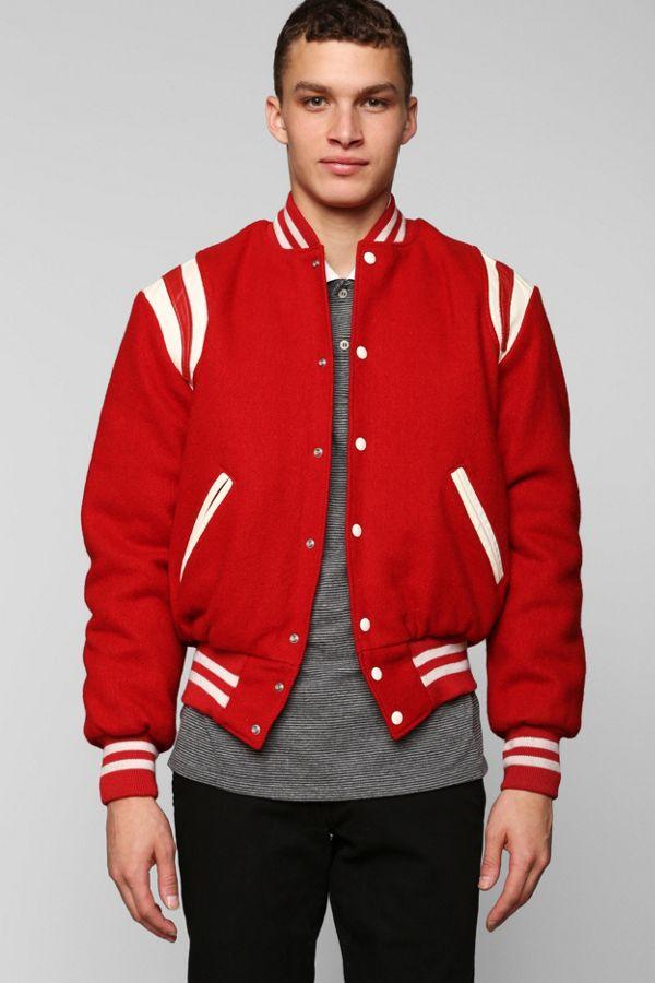 17c10b171 Vintage Red Varsity Jacket   Urban Outfitters