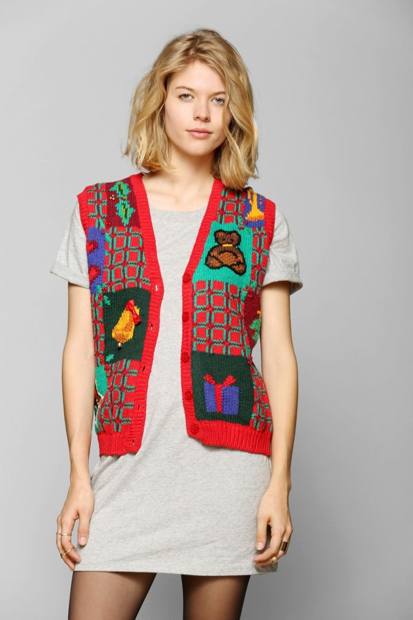 Urban Outfitters Ugly Christmas Sweater.Urban Renewal Vintage Ugly Christmas Sweater Vest Urban
