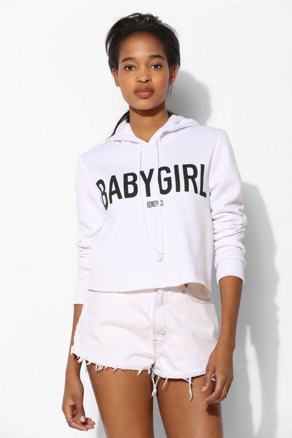 0c087cc22 DimePiece X UO Baby Girl Cropped Pullover Hoodie Sweatshirt