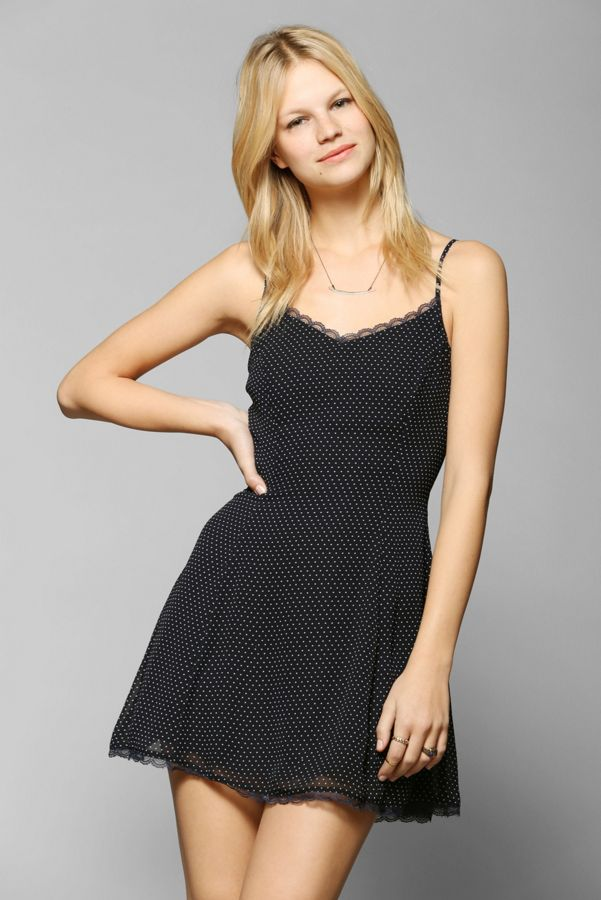 e19799a4 Lucca Couture LaceTrim Chiffon Slip Dress Urban Outfitters My