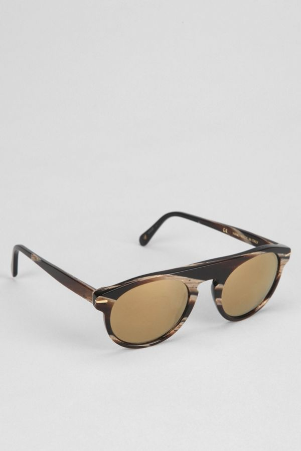 30a9ede97e94 SUPER Racer Motopsycho Flat-Top Round Sunglasses | Urban Outfitters