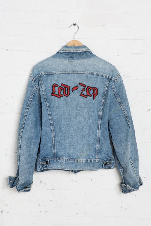 ac055c281 Vintage Lee Led Zeppelin Denim Jacket | Urban Outfitters