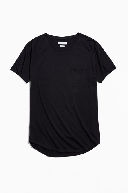 1ad9f300ab25 UO Scoop Neck Curved Hem Tee