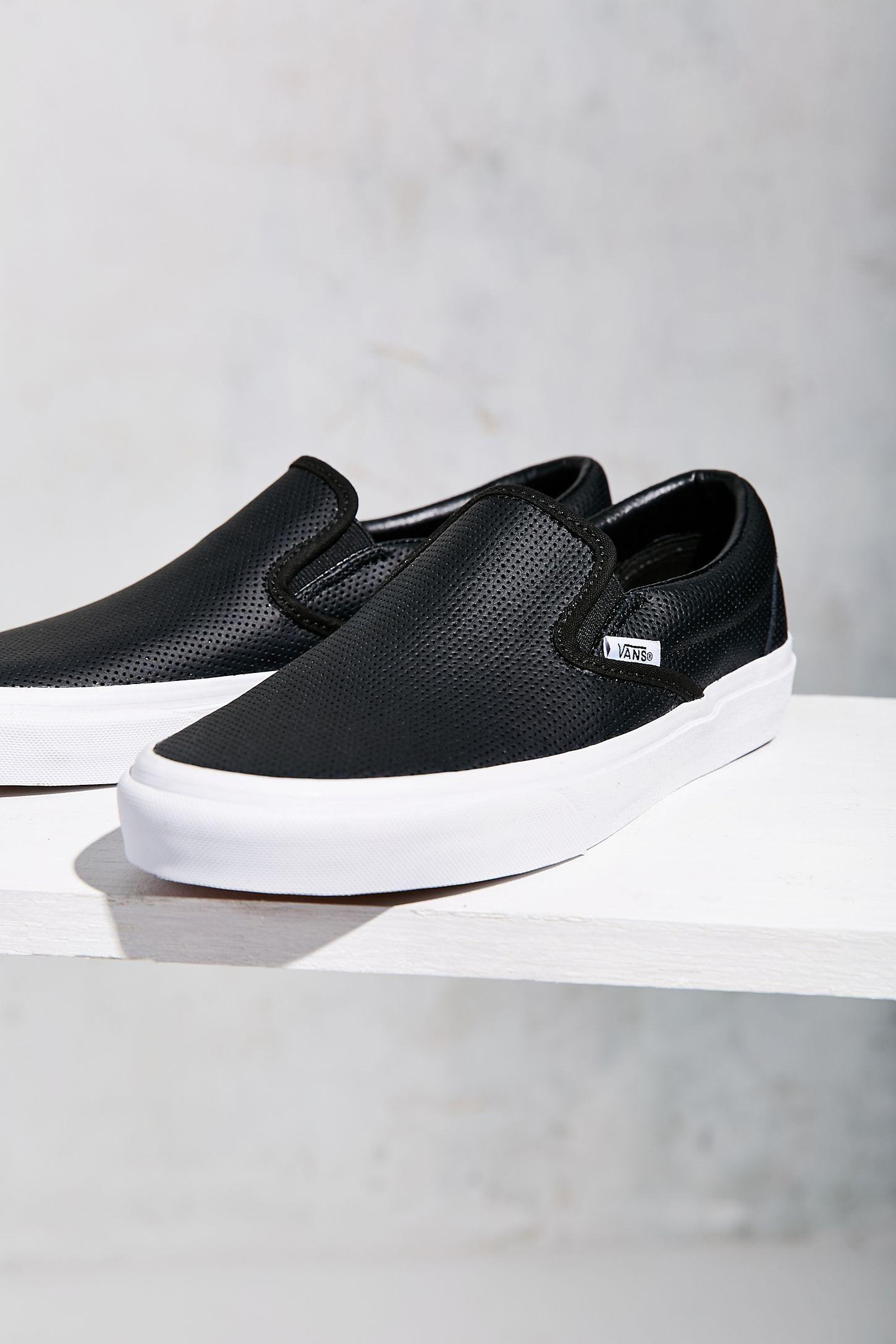 6eefb8fb372b52 Vans Perforated Leather Slip-On Sneaker