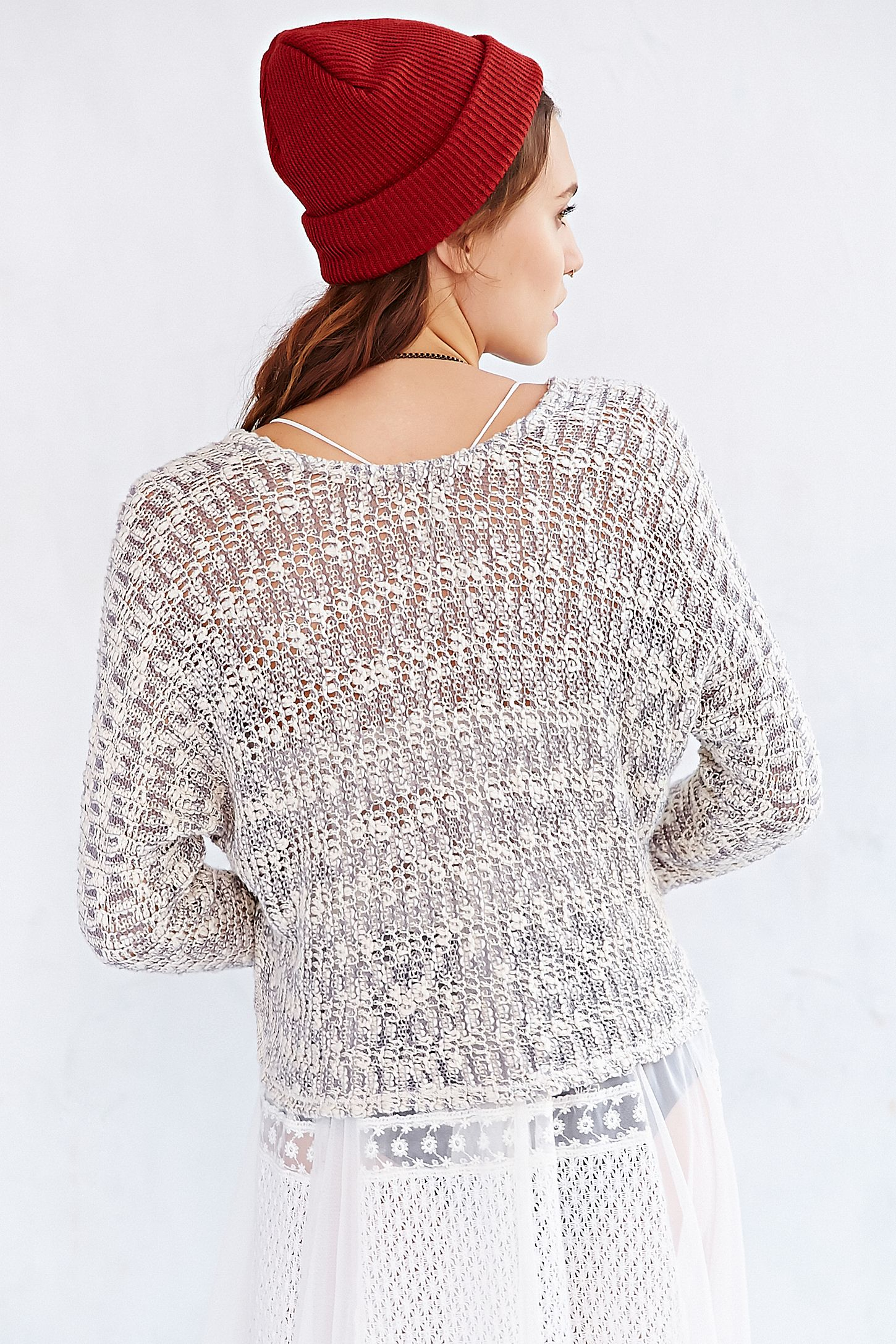 Ecote Virtual Insanity Cropped Sweater   Urban Outfitters