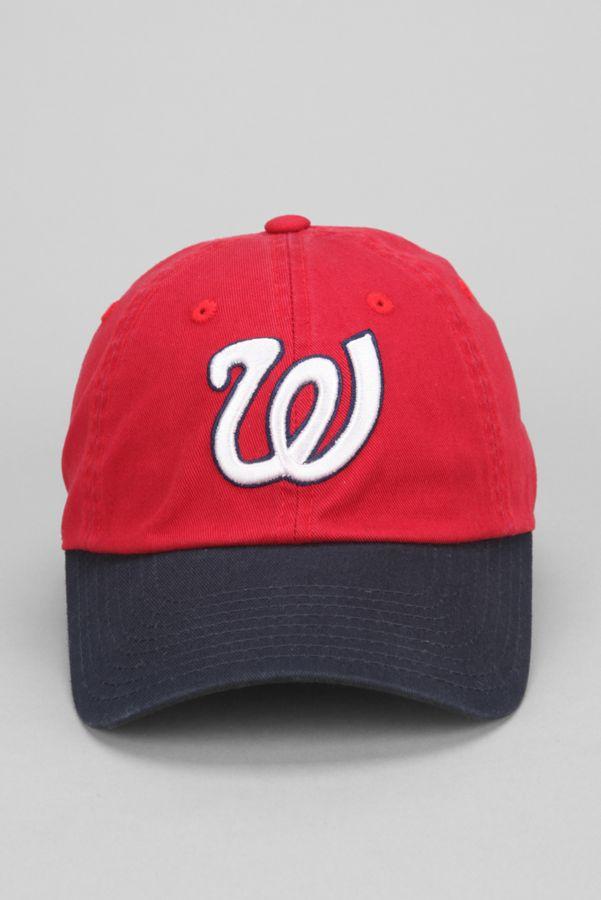 570f6e4e7 American Needle Washington Senators Bleacher Seat Strap-Back Hat ...