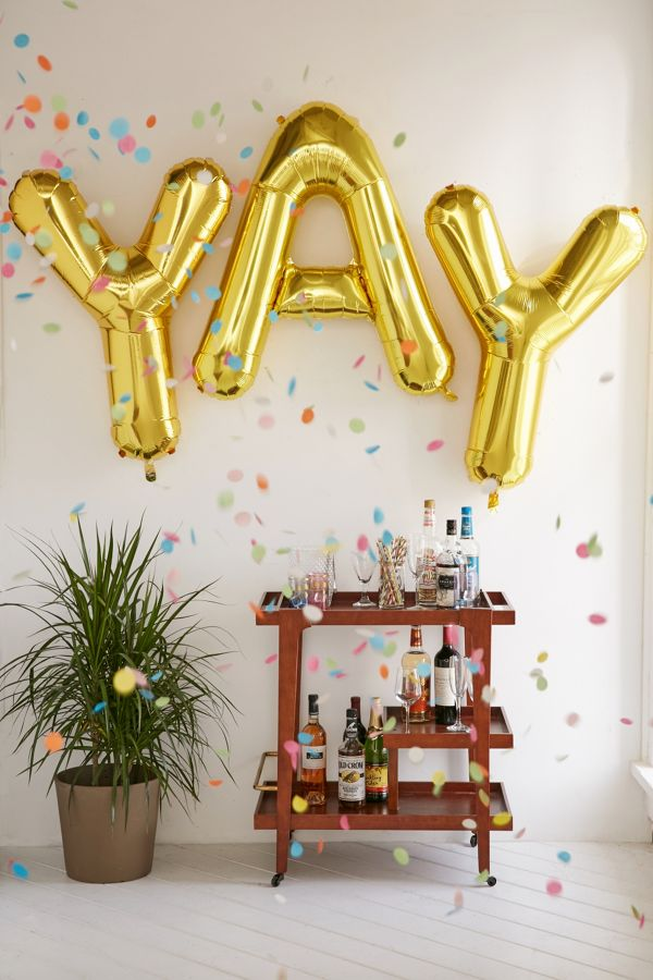 Slide View 1 Gold Letter Party Balloon