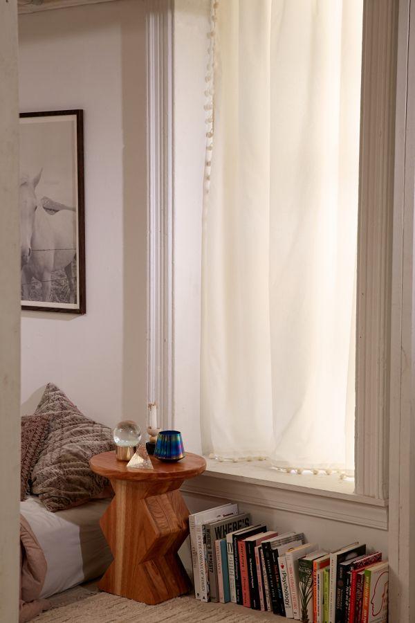 Slide View: 1: Blackout Pompom Curtain