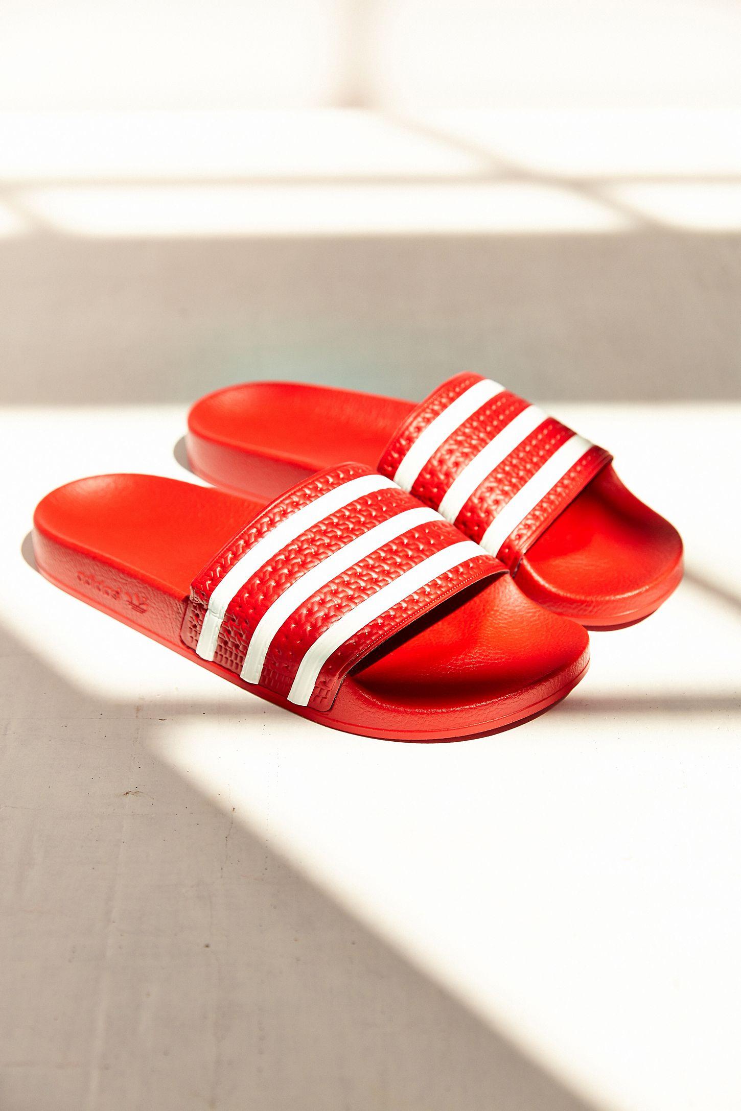 3214bc19c0bc adidas Originals Adilette Scarlet Slide