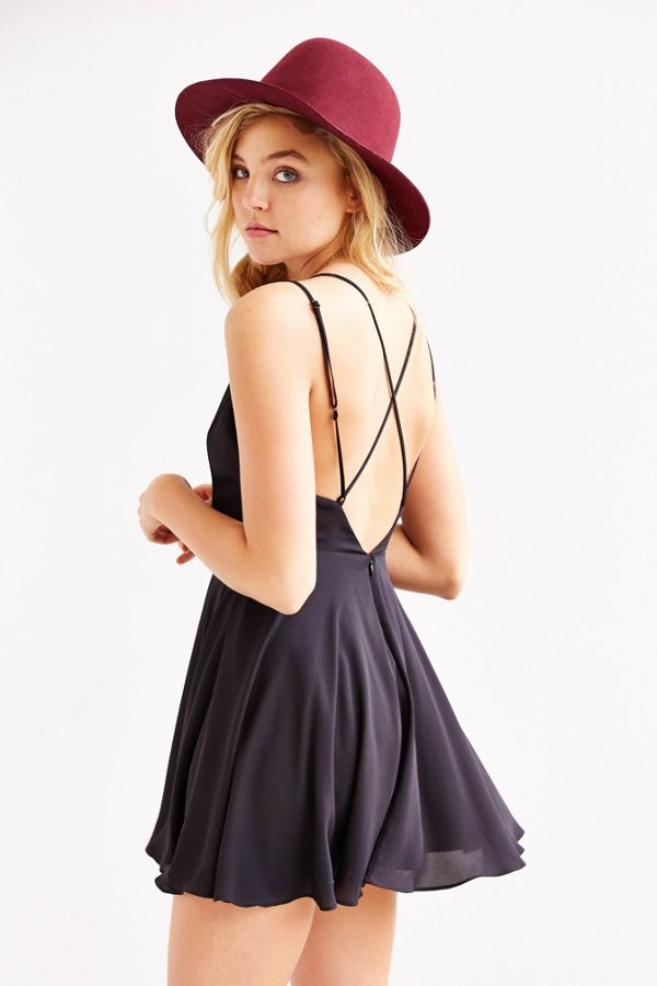 40290b41e0 Sparkle   Fade Strappy Chiffon Skater Dress