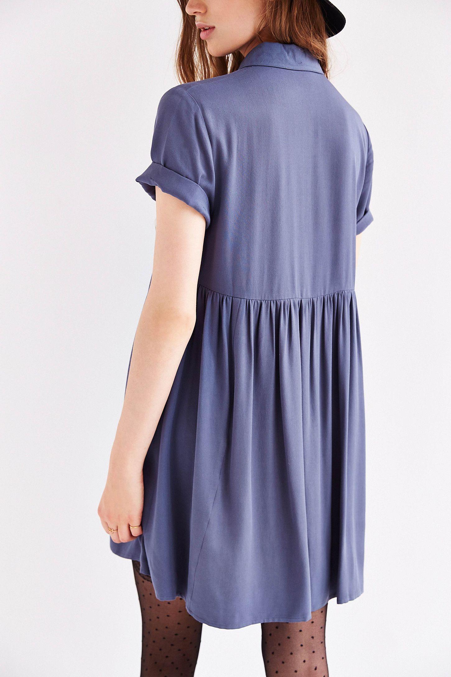 4cff6e5db7f BDG Babydoll Shirtdress | Urban Outfitters