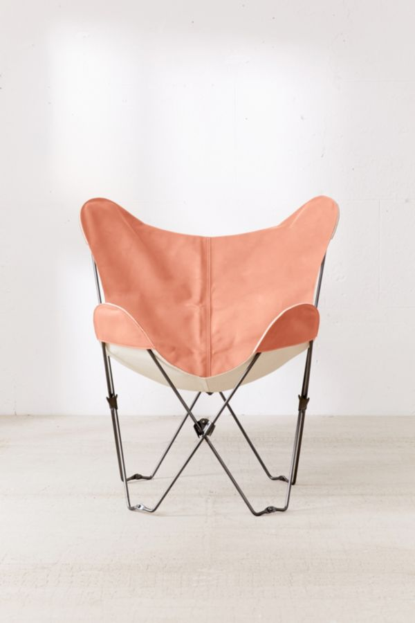 Slide View: 2: 4040 Locust Leather Butterfly Chair Cover