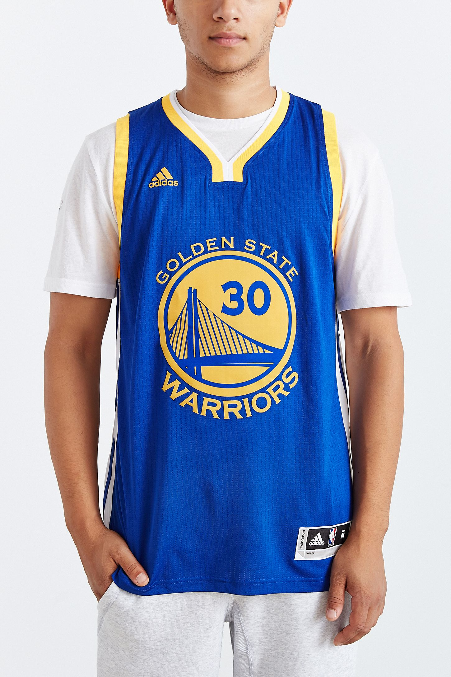 competitive price 55d57 7385e adidas Golden State Warriors Stephen Curry Away Jersey ...