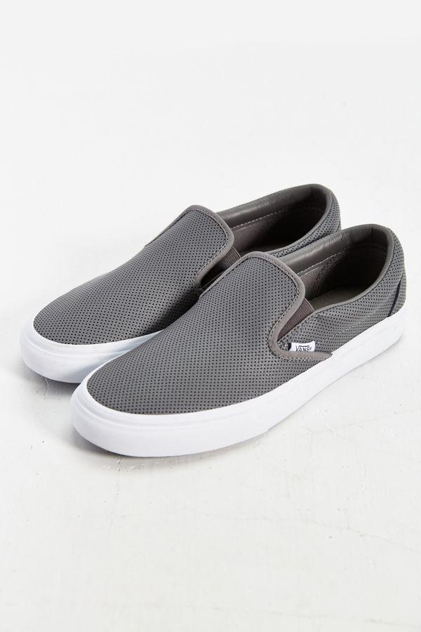 fd753f9a72 Slide View  1  Vans Leather Slip-On Men s Sneaker