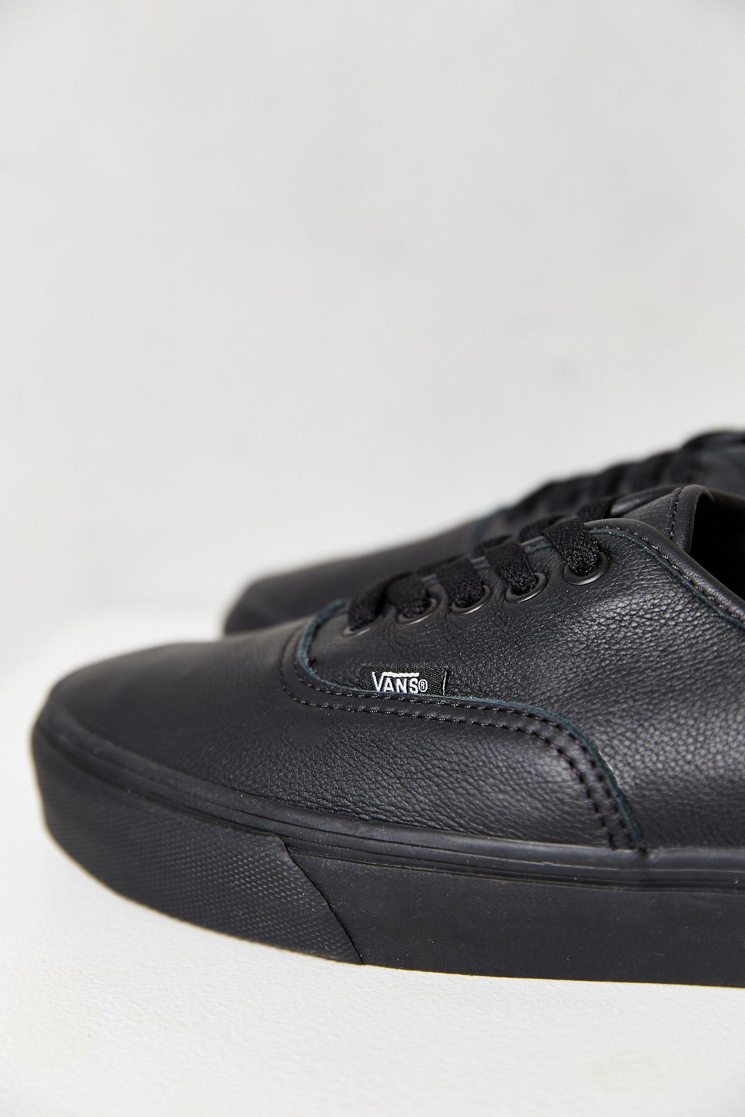 7313fa8a08 Slide View  4  Vans Authentic Italian Leather Monochromatic Sneaker