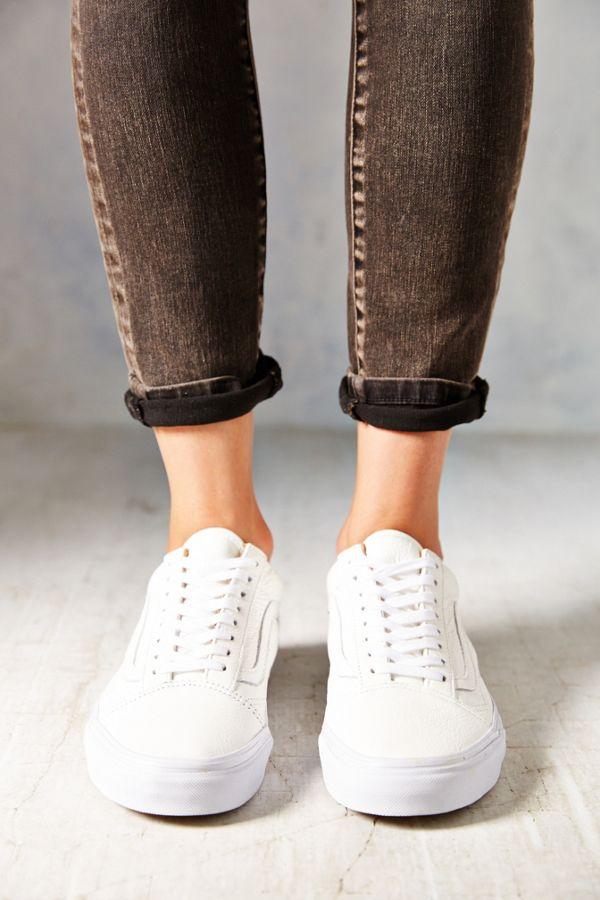 Vans Old Skool Premium Leather Low-Top Women's Sneaker | Urban ...