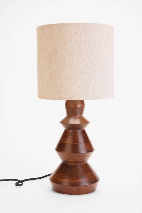 4040 Sculpté Lampe Locust De Bois Pied En tdQsxhrC