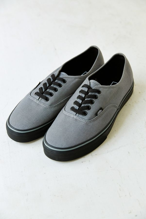 vans authentic grey black sole