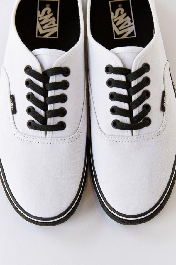 Vans Authentic Black Sole Men's Sneaker | Urban Outfitters