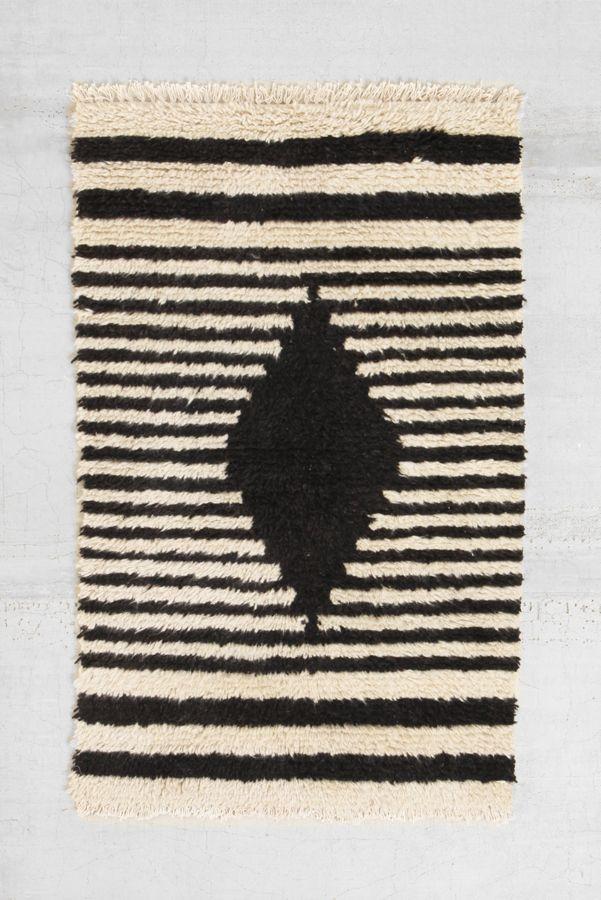 Bohem Shag Diamond Wool Rug | Urban