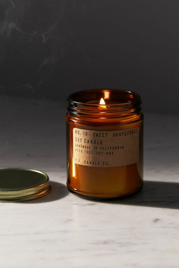 P F  Candle Co  Amber Jar Soy Candle